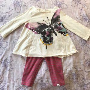 Burt's Bee Baby 6-9M outfit. EUC